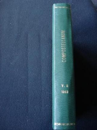 COMPOSTELLANUM. 1963 Revista de la Archidiócesis de Santiago de Compostela - Ver os detalles do produto