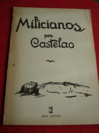 MILICIANOS. Álbum de debuxos. Textos en galego-castellano-english (Edición de 1976) - Ver os detalles do produto