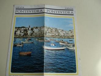 Pontevedra (Galicia). Folleto de Ministerio de Información y Turismo. Década 1960. Fotografías en color + Mapas - Ver os detalles do produto