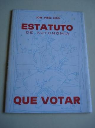 Estatuto de autonomía. Que votar - Ver os detalles do produto