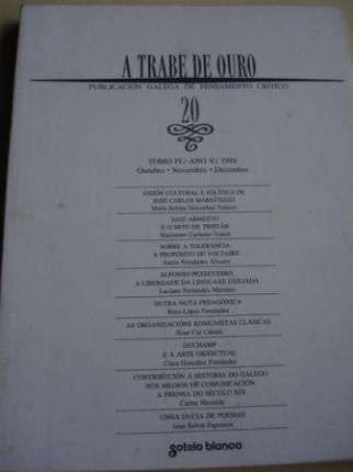 A TRABE DE OURO. Publicación galega de pensamento crítico. Nº 20 - Outubro-novembro-decembro, 1994 - Ver os detalles do produto