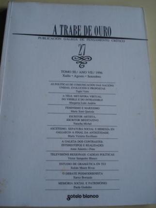 A TRABE DE OURO. Publicación galega de pensamento crítico. Nº 27 - Xullo - agosto - setembro, 1996 - Ver os detalles do produto